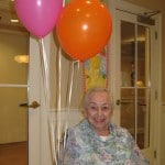 This is mom on her 95th birthday. This wasn't her favorite photo. She thought she looked too old.