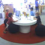 Kids in An Apple Store