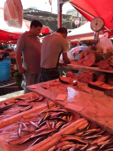 Slicing Fish, Catania, Sicilia Market