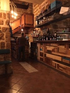 Interior of Wine Bar on via Alessandro Paternoster, Palermo, Sicily
